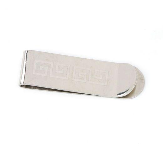 Κλιπ χαρτονομισμάτων από ανοξείδωτο ατσάλι με σχέδιο μαιάνδρου