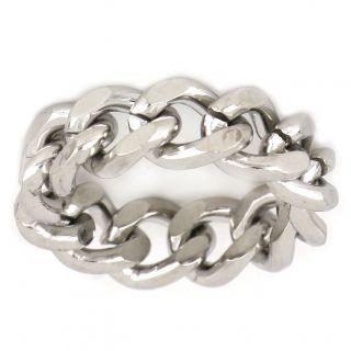 Ανδρικό δαχτυλίδι ατσάλινο αλυσίδα -