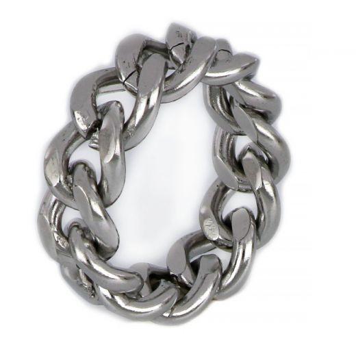 Ανδρικό δαχτυλίδι ατσάλινο αλυσίδα