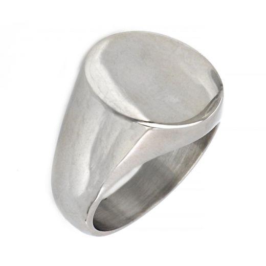 Ανδρικό δαχτυλίδι ατσάλινο απλό στρογγυλό