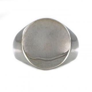 Ανδρικό δαχτυλίδι ατσάλινο απλό στρογγυλό -